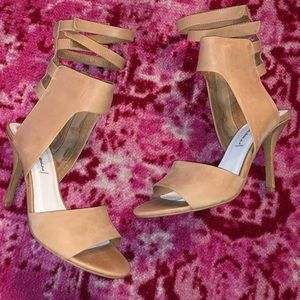 jeffrey Campbell double ankle strap heels